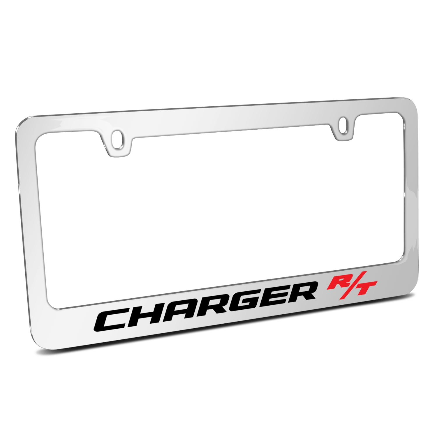 Dodge Charger R/T Mirror Chrome Metal License Plate Frame