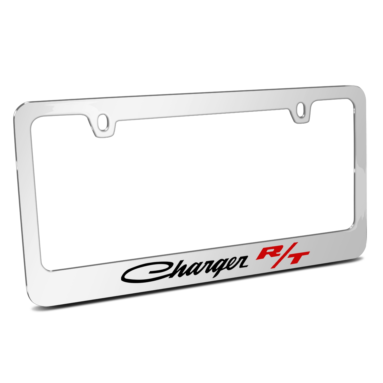 Dodge Charger R/T Classic Mirror Chrome Metal License Plate Frame