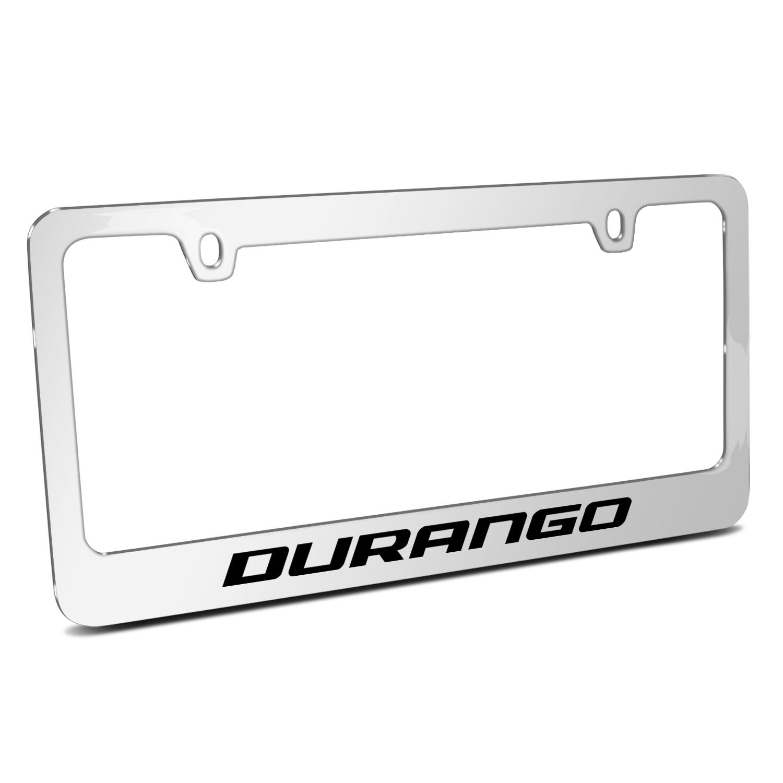 Dodge Durango Mirror Chrome Metal License Plate Frame