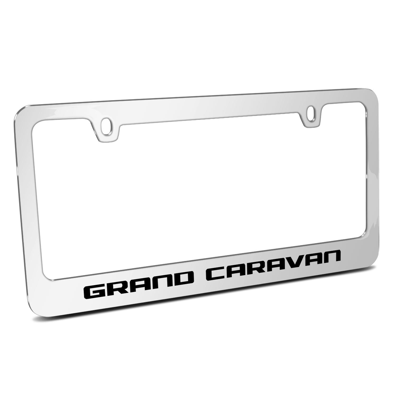 Dodge Grand Caravan Mirror Chrome Metal License Plate Frame