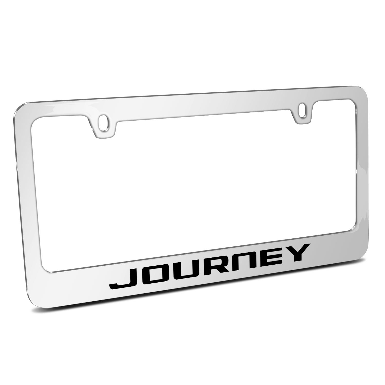 Dodge Journey Mirror Chrome Metal License Plate Frame