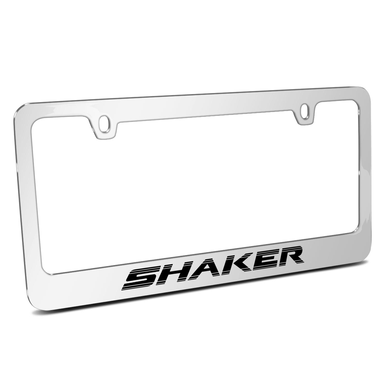 Dodge Challenger Shaker Mirror Chrome Metal License Plate Frame