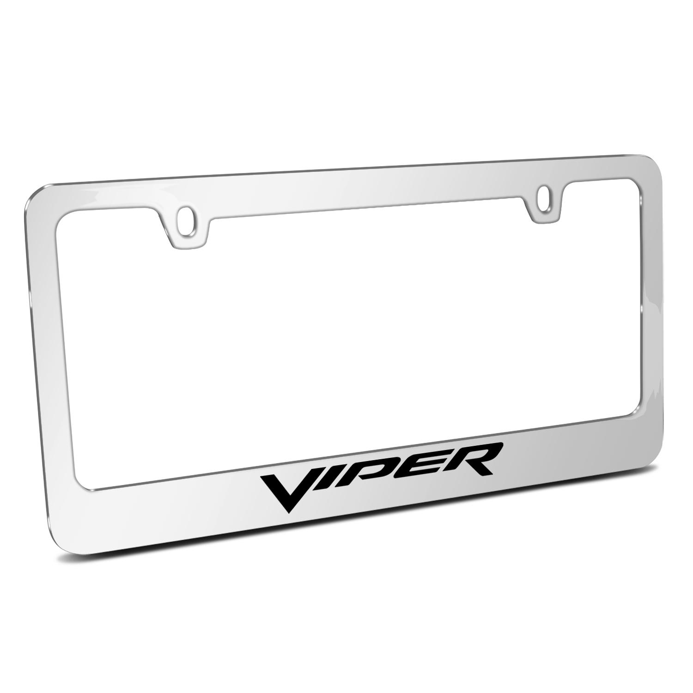 Dodge Viper Mirror Chrome Metal License Plate Frame