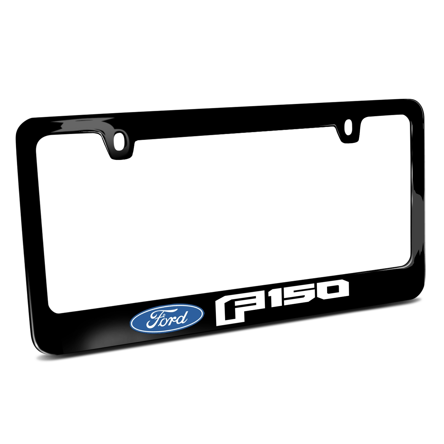Ford F-150 2015 up Black Metal License Plate Frame