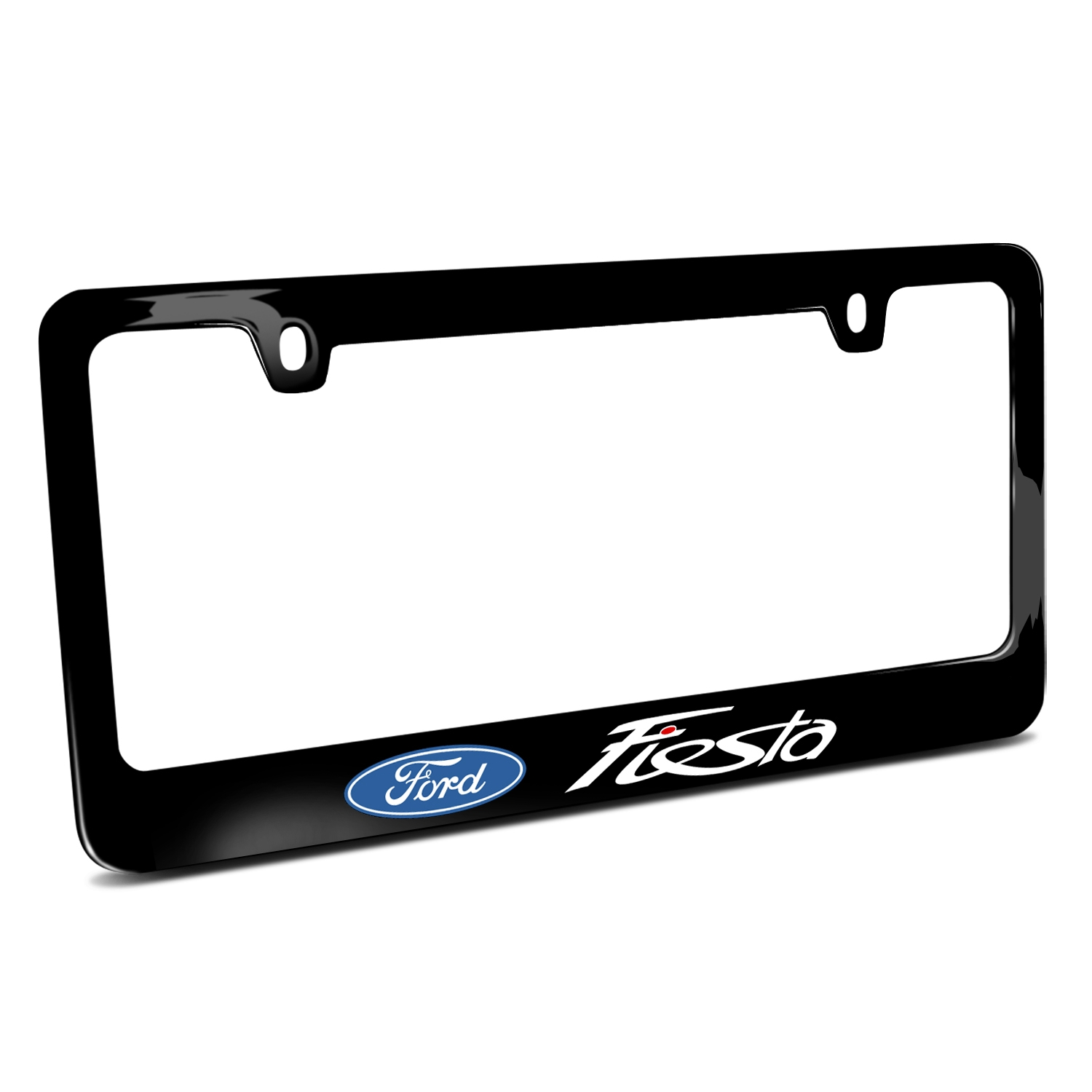 Ford Fiesta Black Metal License Plate Frame