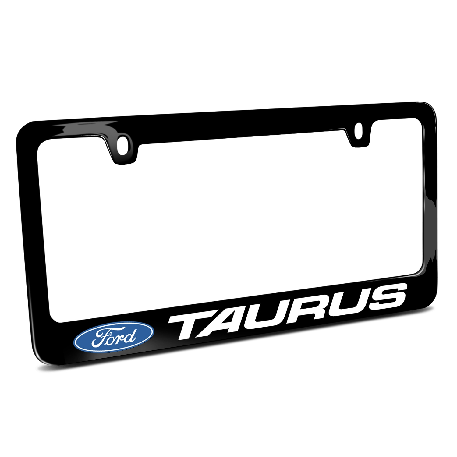 Ford Taurus Black Metal License Plate Frame