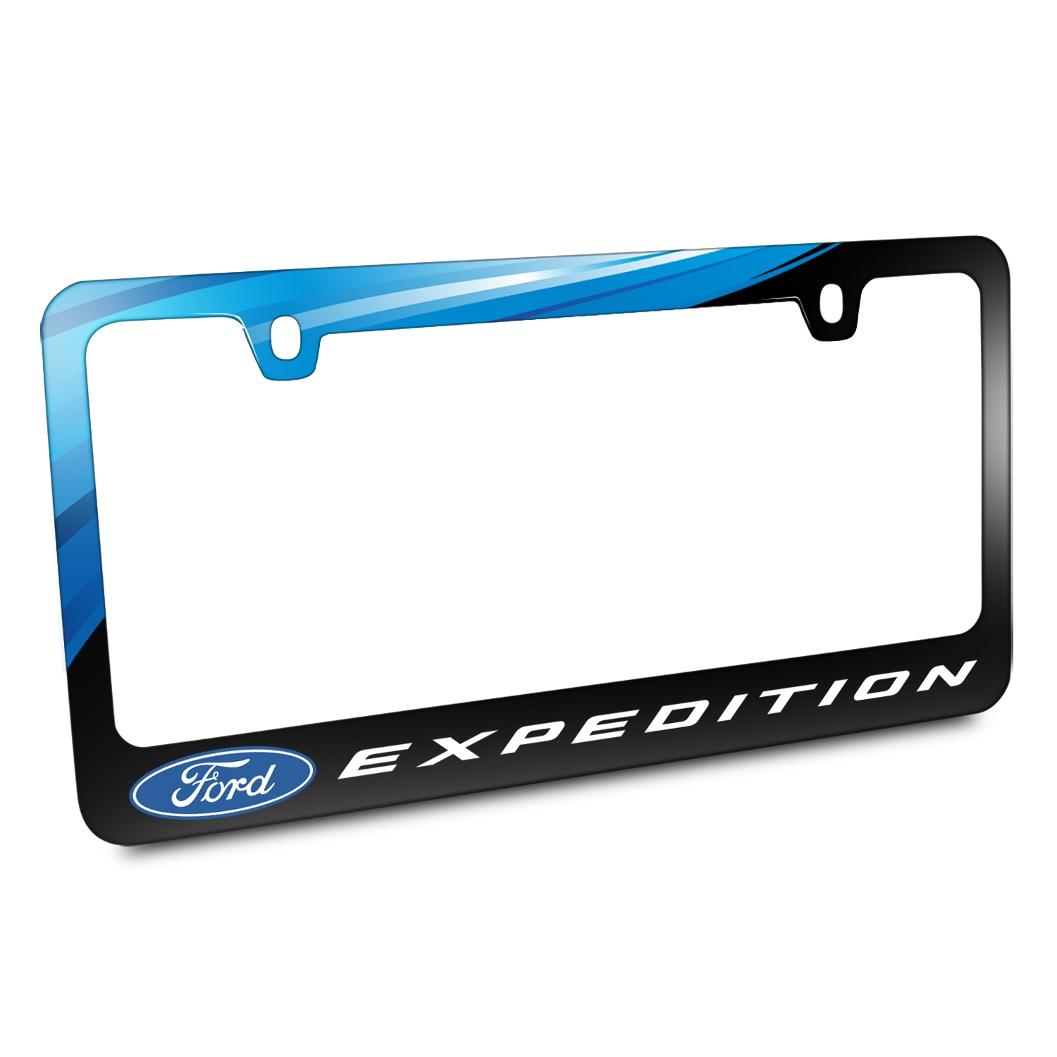 Ford Logo Expedition Black Metal Graphic License Plate Frame
