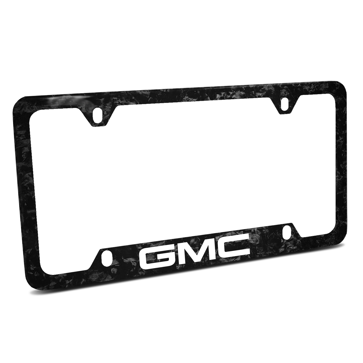 GMC Logo Real Black Forged Carbon Fiber 50 States License Plate Frame