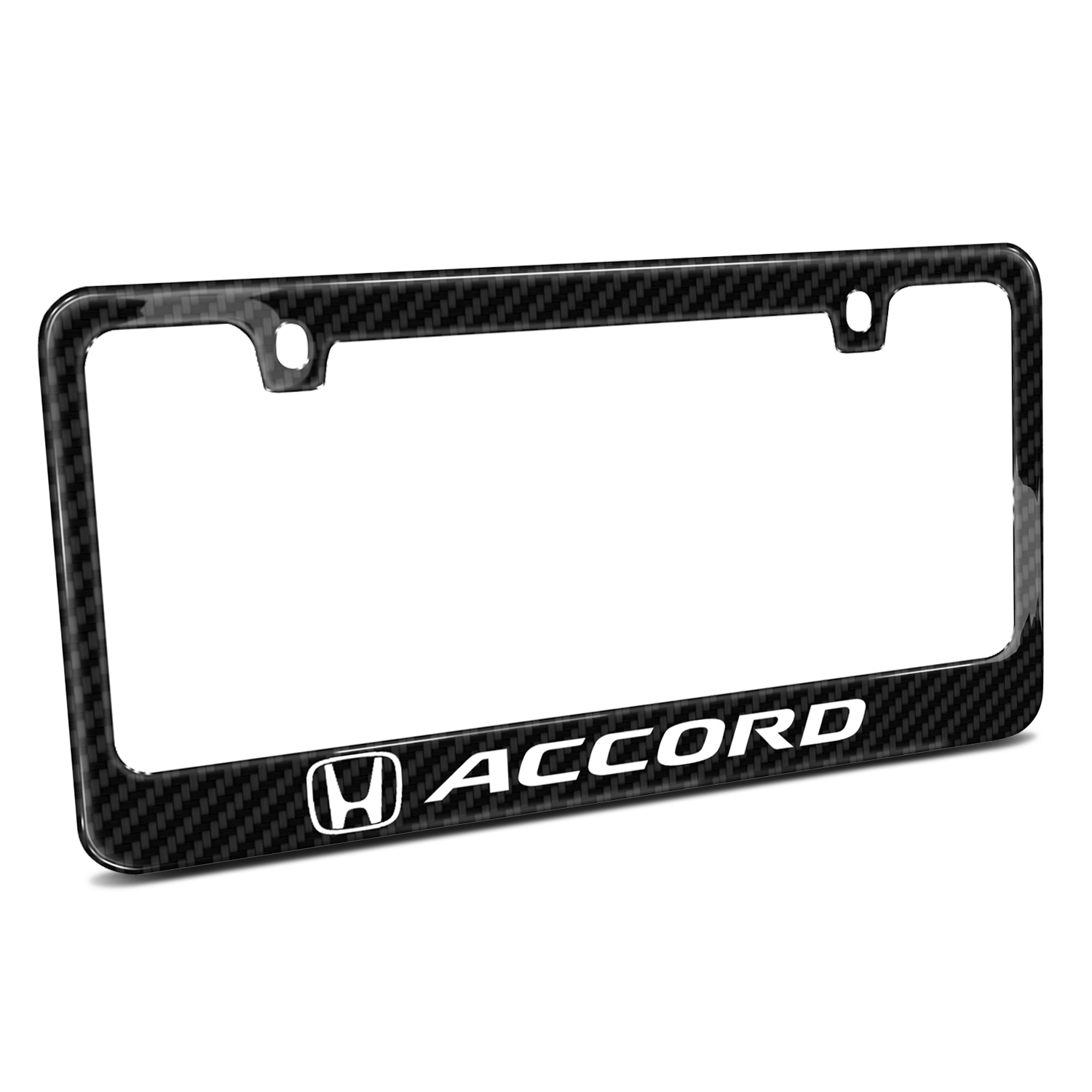 Honda Accord Black Real Carbon Fiber License Plate Frame