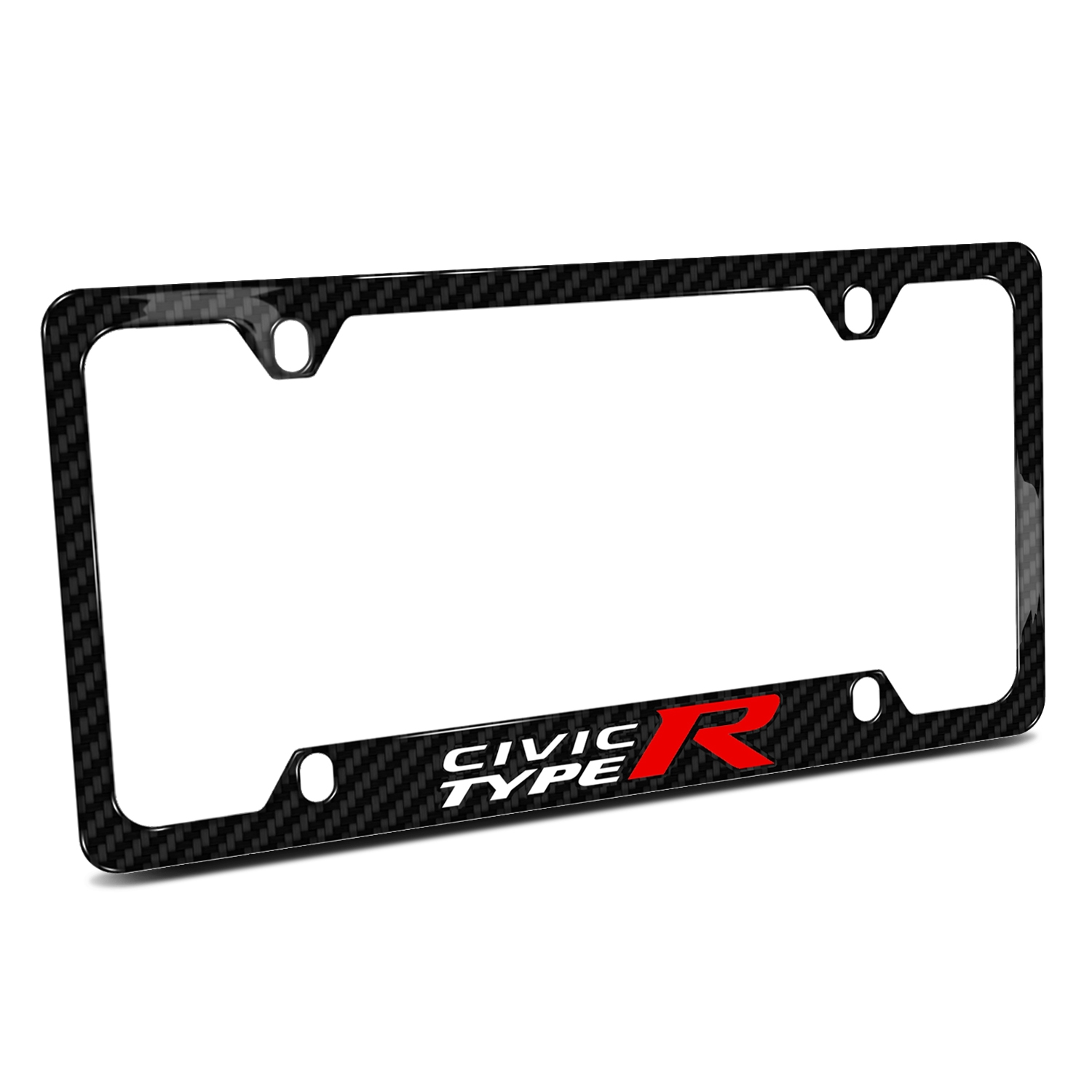 Honda Civic Type R Black Real Carbon Fiber 50 States License Plate Frame