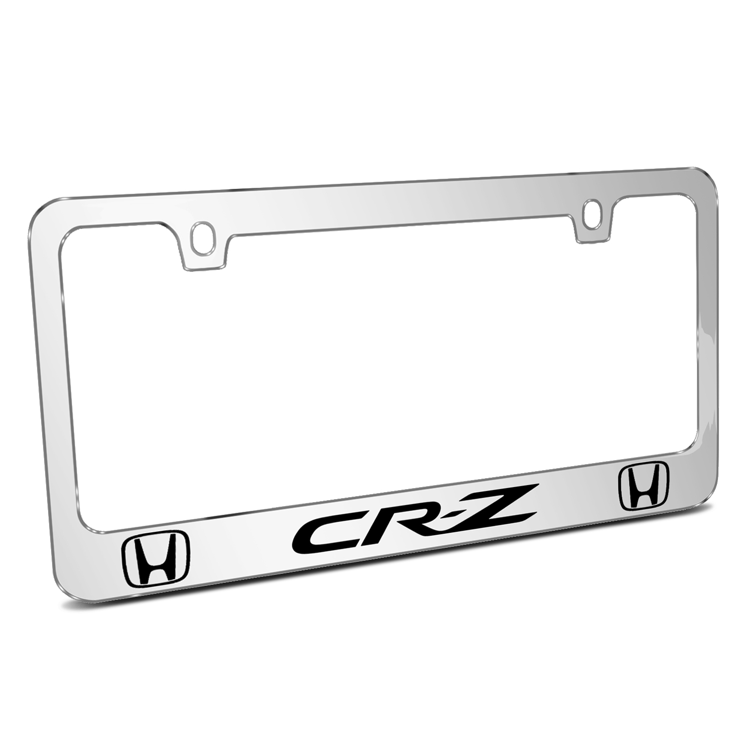 Honda CR-Z Dual Logo Mirror Chrome Metal License Plate Frame