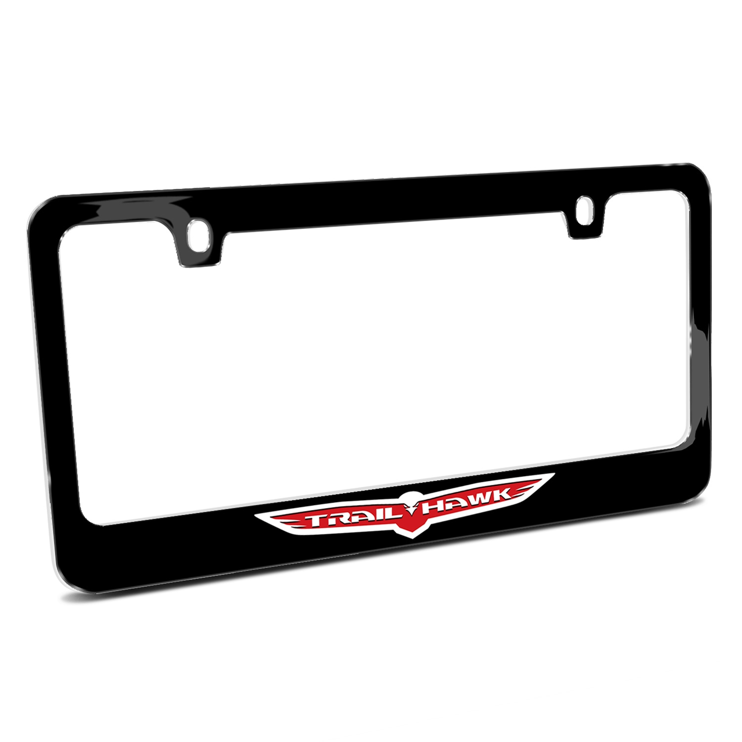 Jeep Trailhawk Black Metal License Plate Frame