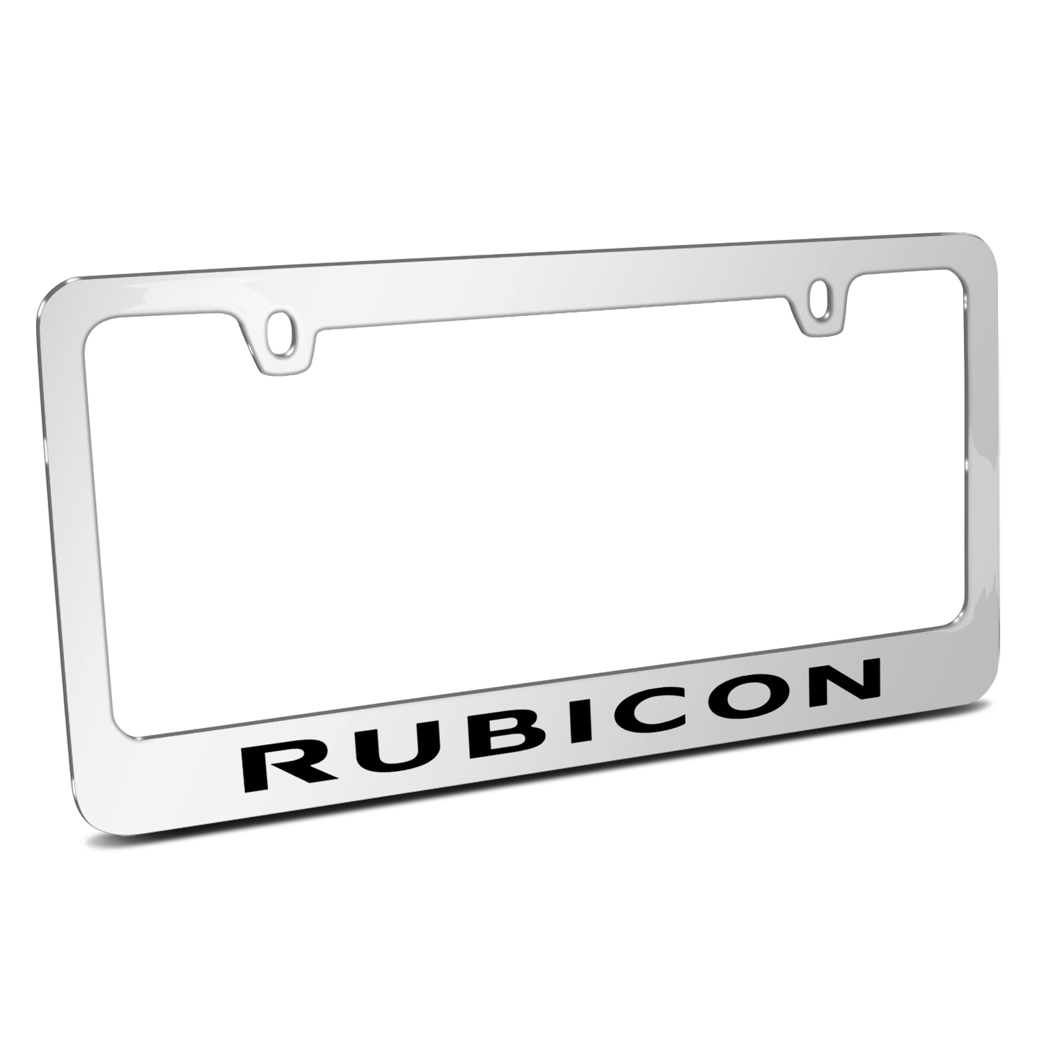 Jeep Rubicon Mirror Chrome Metal License Plate Frame