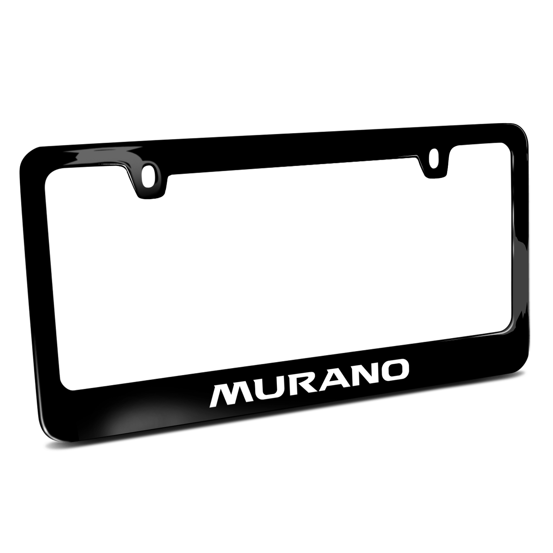 Nissan Murano Black Metal License Plate Frame