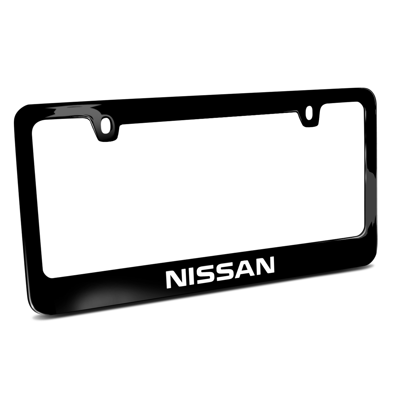 Nissan Black Metal License Plate Frame