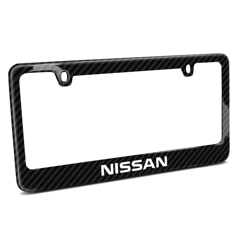 Nissan Black Real Carbon Fiber License Plate Frame