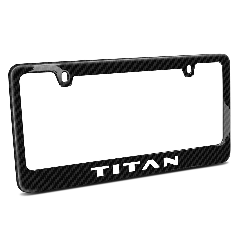 Nissan Titan Black Real Carbon Fiber License Plate Frame