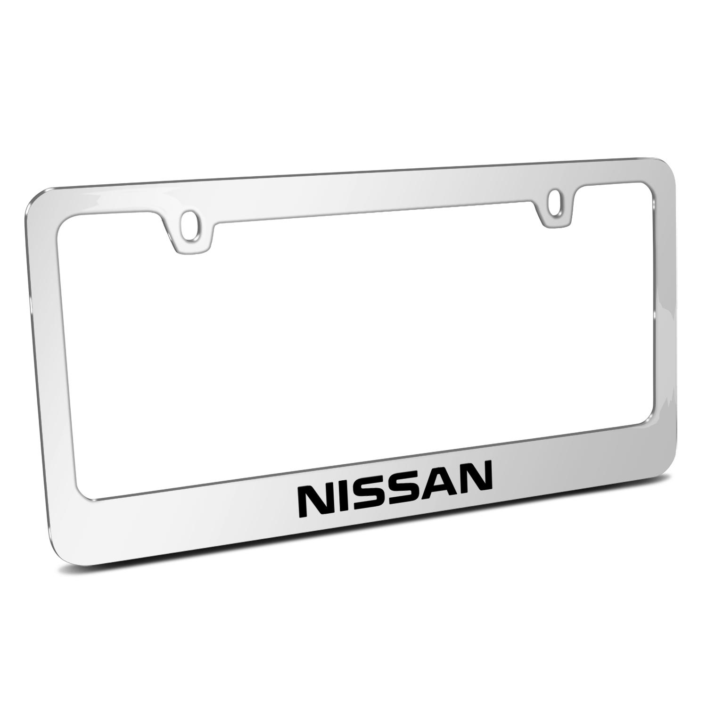 Nissan Mirror Chrome Metal License Plate Frame