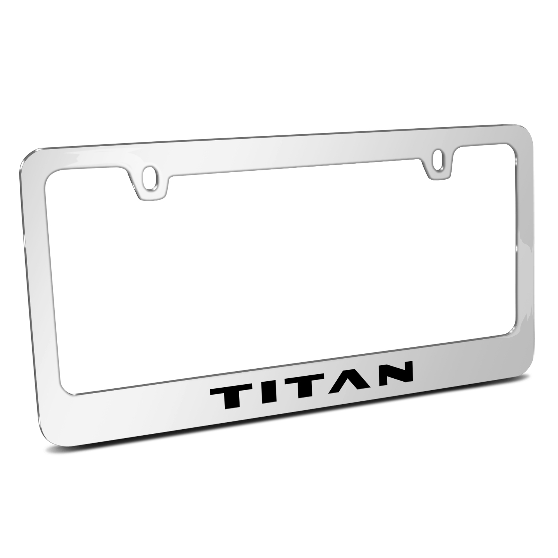 Nissan Titan Mirror Chrome Metal License Plate Frame