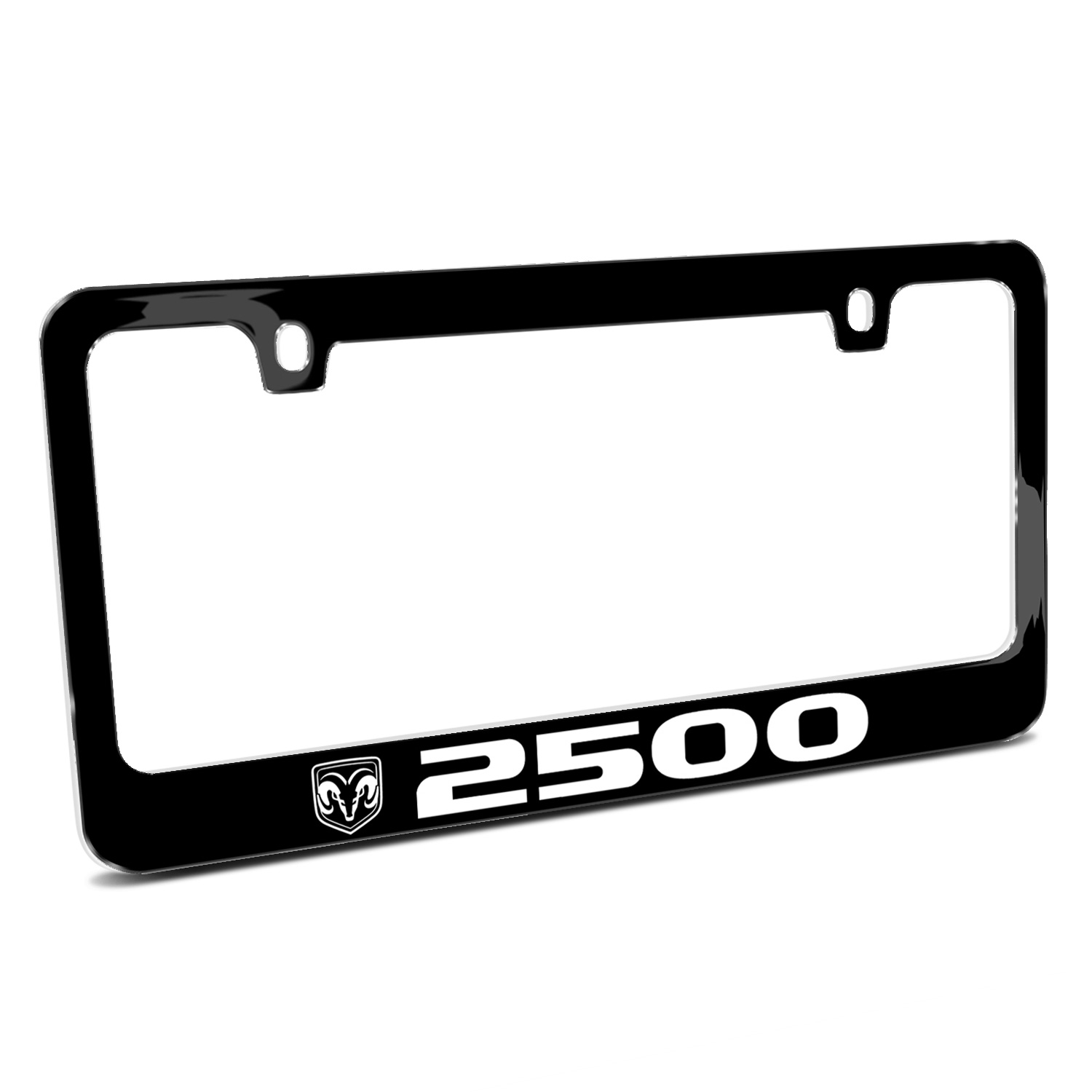 RAM 2500 Logo Black Metal License Plate Frame