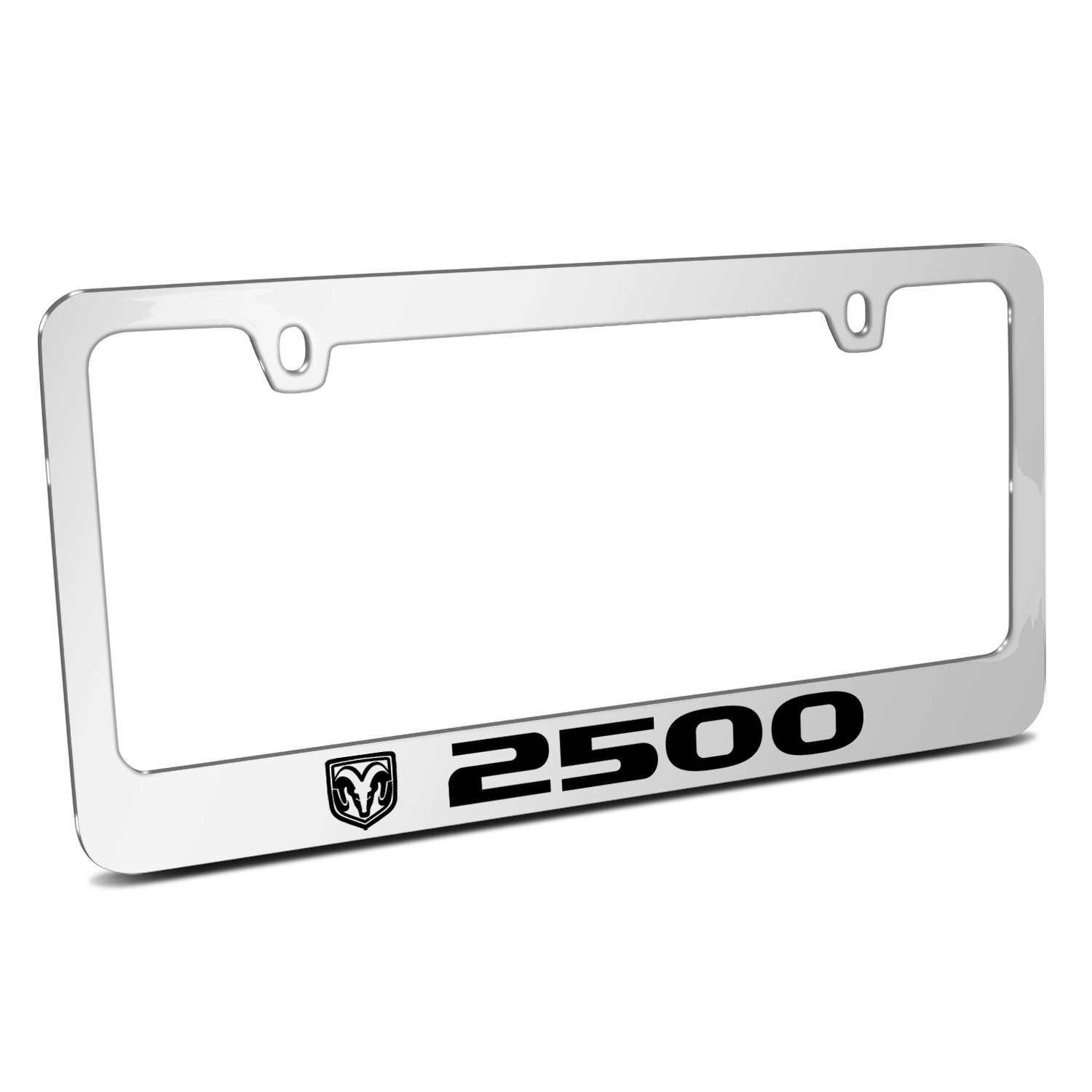 RAM 2500 Logo Mirror Chrome Metal License Plate Frame