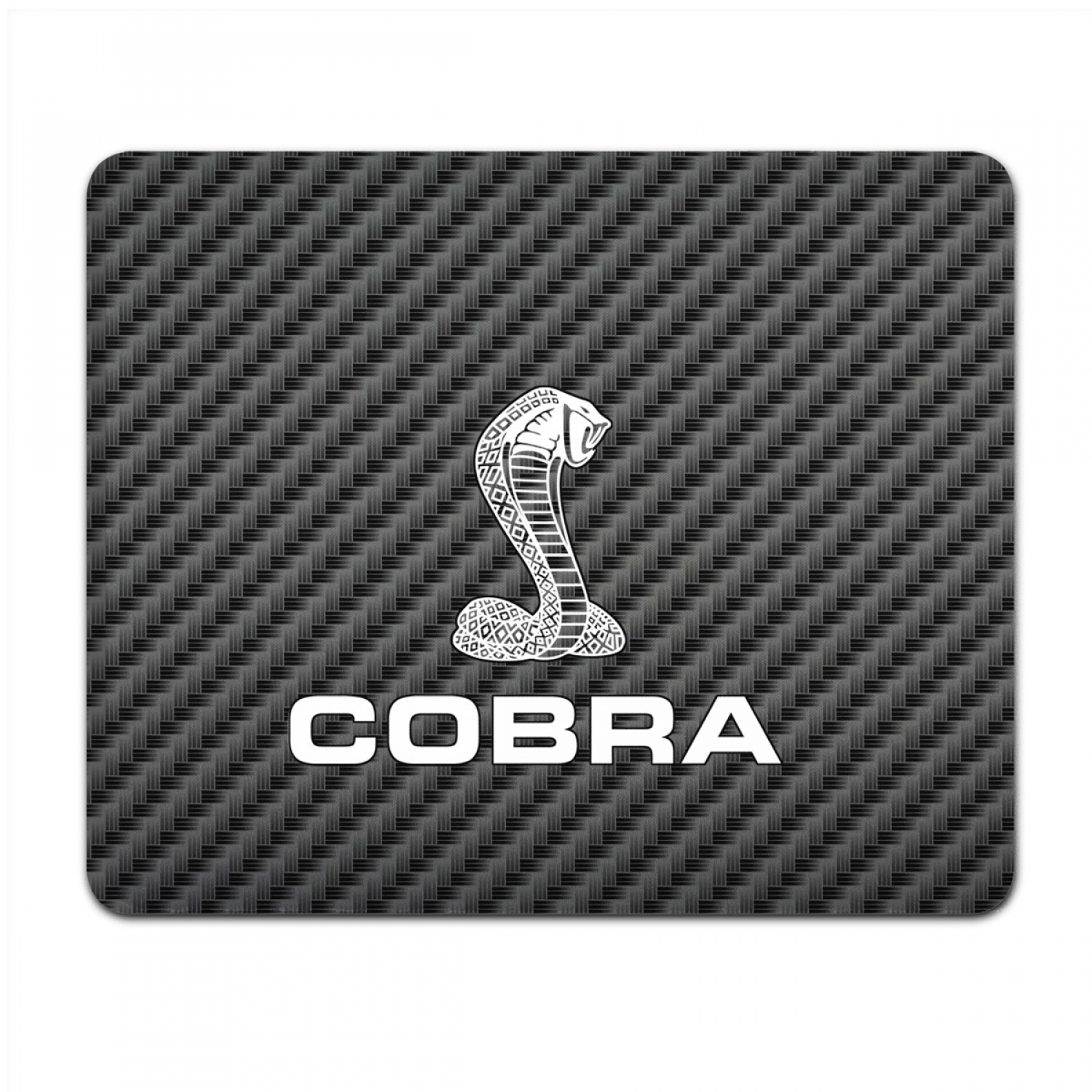 Ford Mustang Cobra Black Carbon Fiber Texture Graphic PC Mouse Pad