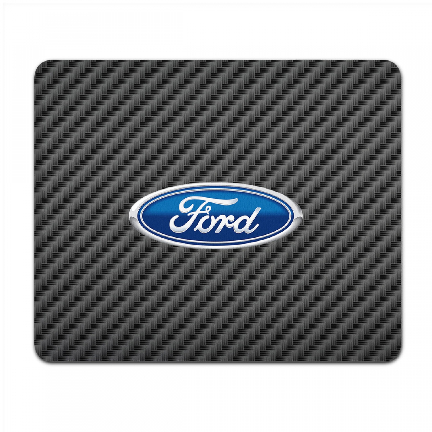 Ford Logo Black Carbon Fiber Texture Graphic PC Mouse Pad
