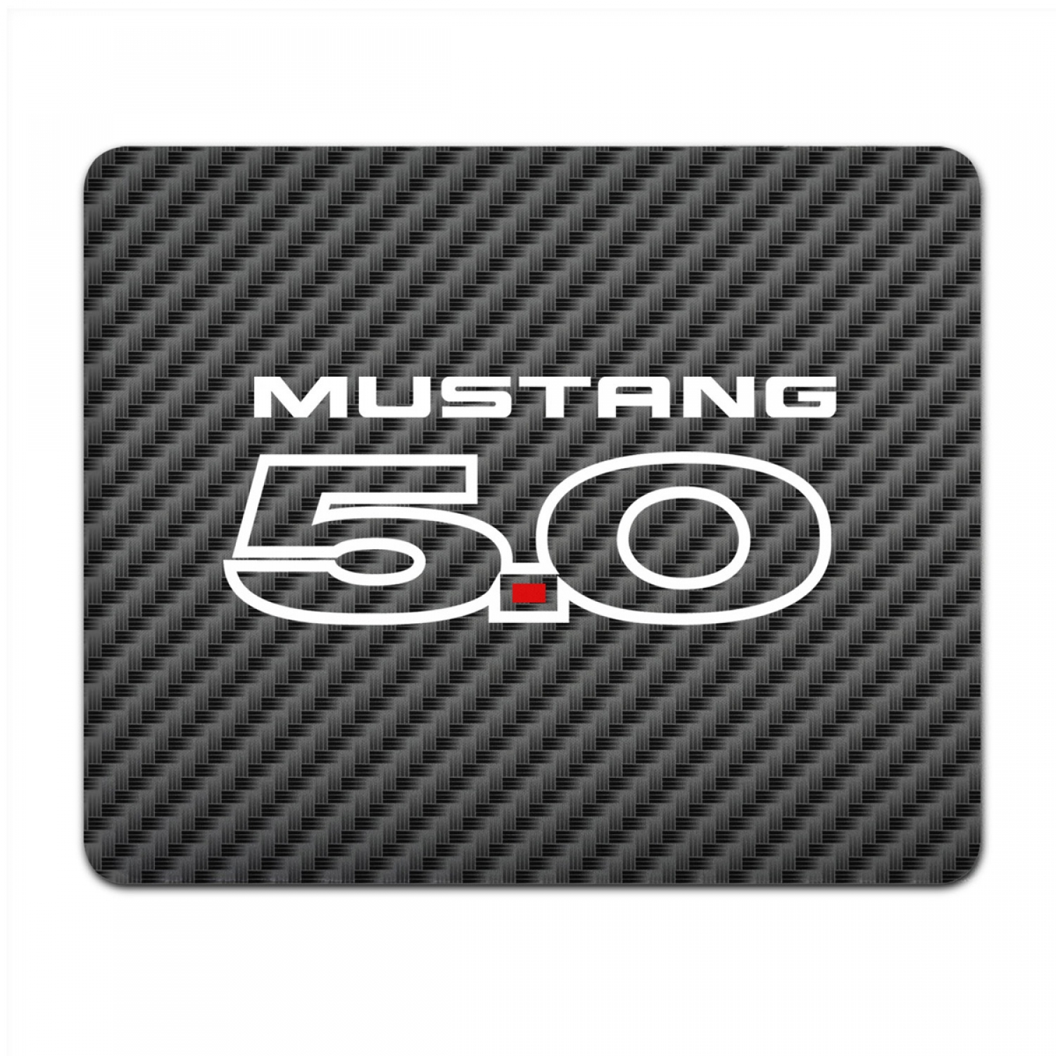 Ford Mustang 5.0 Black Carbon Fiber Texture Graphic PC Mouse Pad