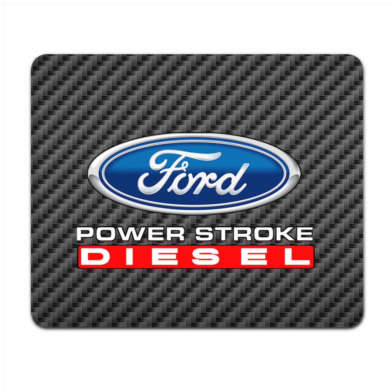Ford Power Stroke Diesel Black Carbon Fiber Texture Graphic PC Mouse Pad