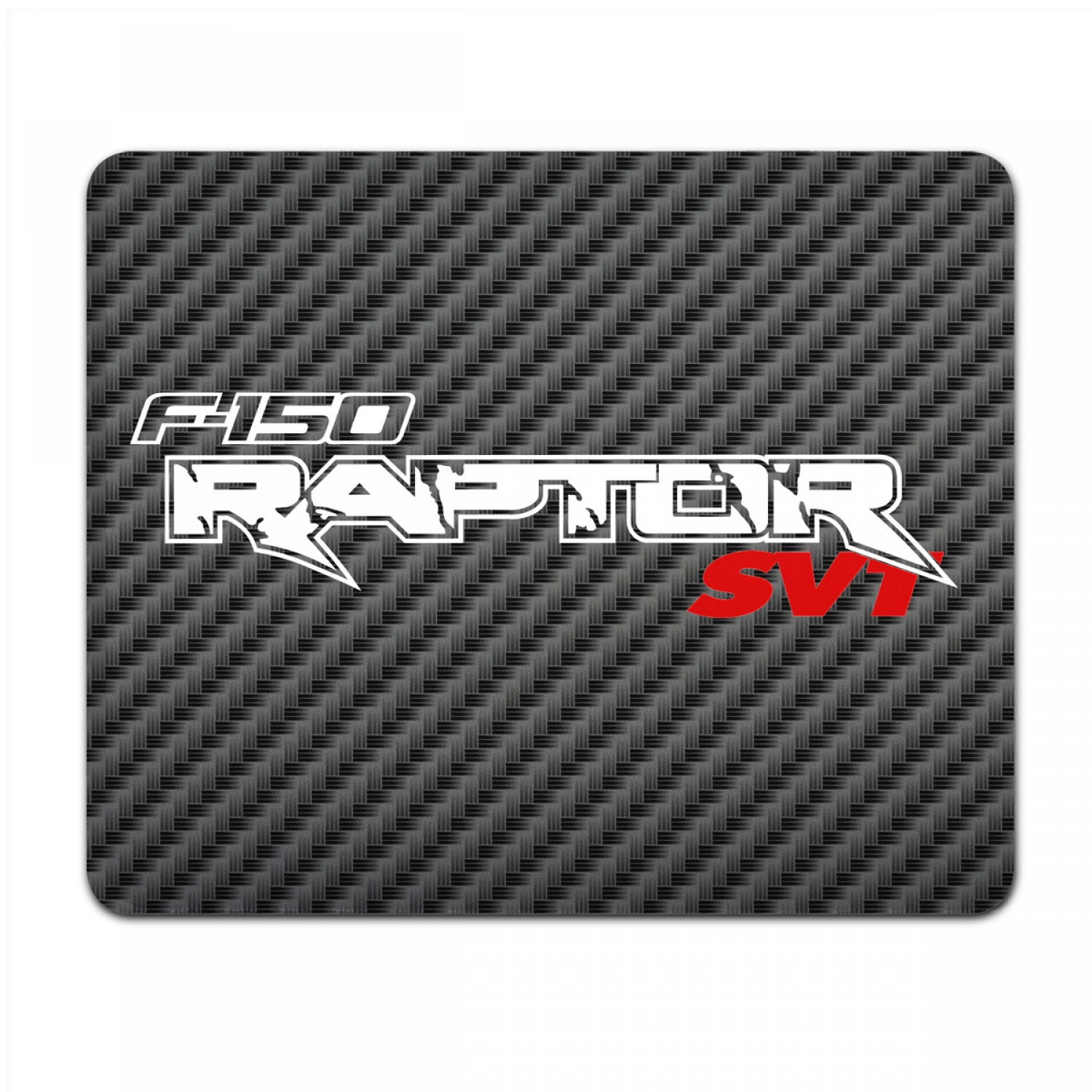 Ford F-150 Raptor SVT 2010 to 2014 Black Carbon Fiber Texture Graphic PC Mouse Pad