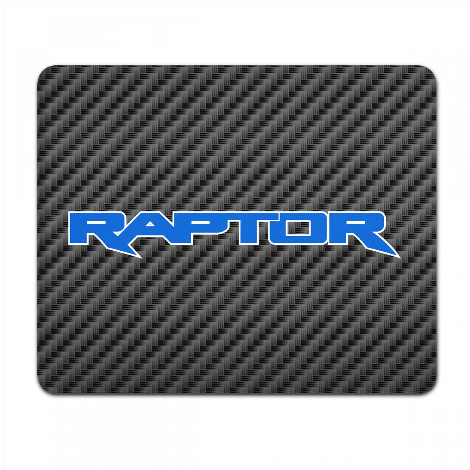 Ford F-150 Raptor 2017 in Blue Black Carbon Fiber Texture Graphic PC Mouse Pad