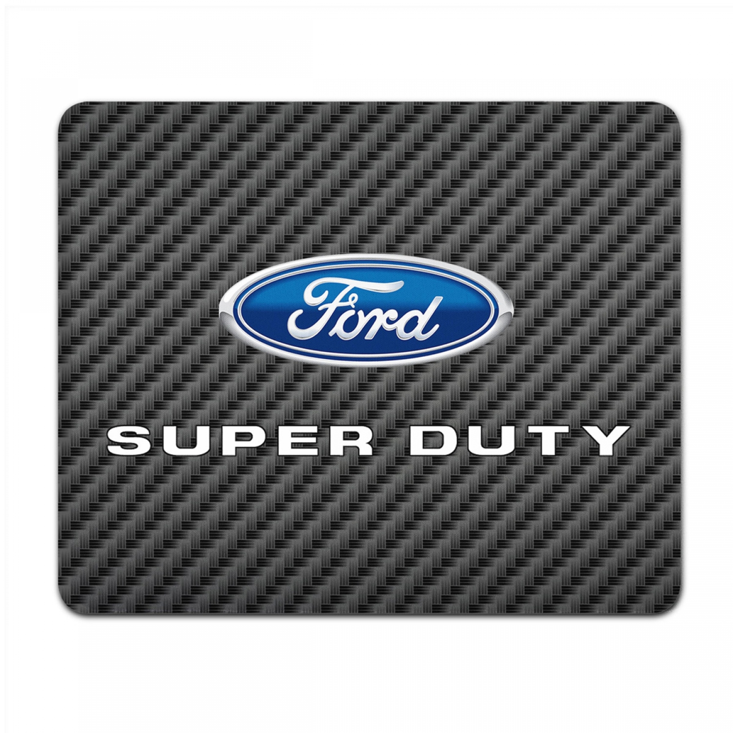 Ford Super-Duty Black Carbon Fiber Texture Graphic PC Mouse Pad