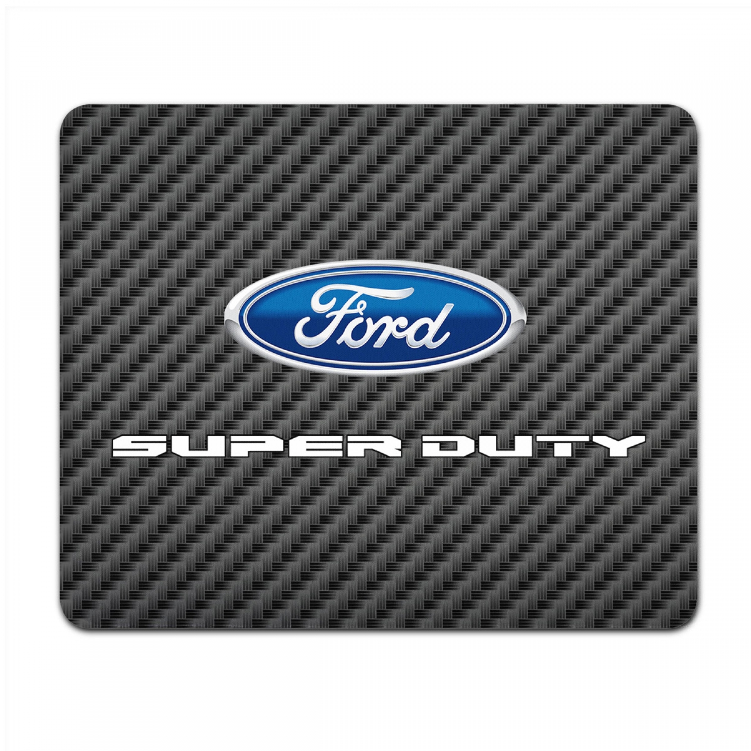 Ford Super-Duty 2016 to 2017 Black Carbon Fiber Texture Graphic PC Mouse Pad