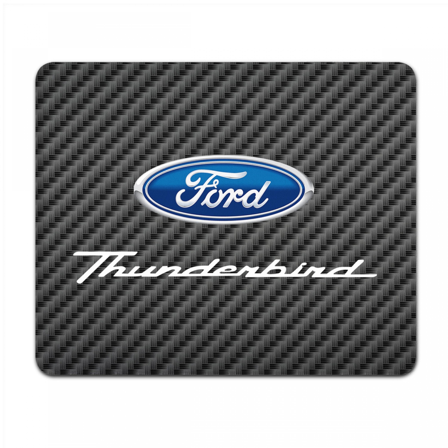 Ford Thunderbird Black Carbon Fiber Texture Graphic PC Mouse Pad