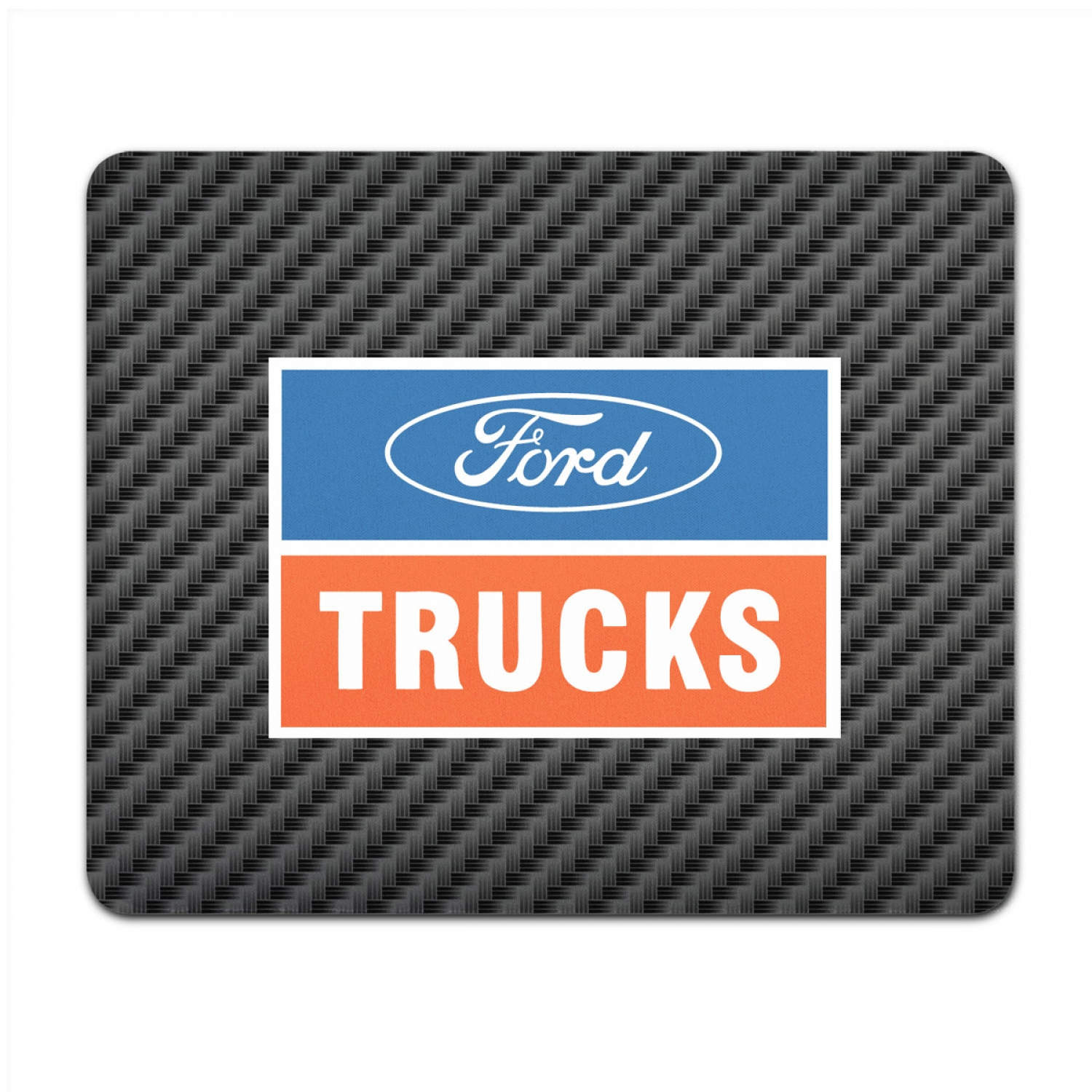 Ford Trucks Black Carbon Fiber Texture Graphic PC Mouse Pad