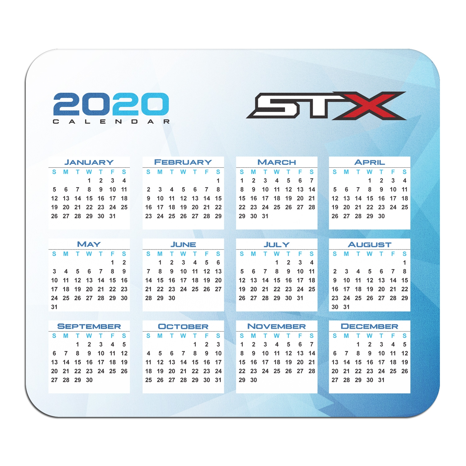 Ford STX 4x4 Year Calendar Graphic PC Mouse Pad