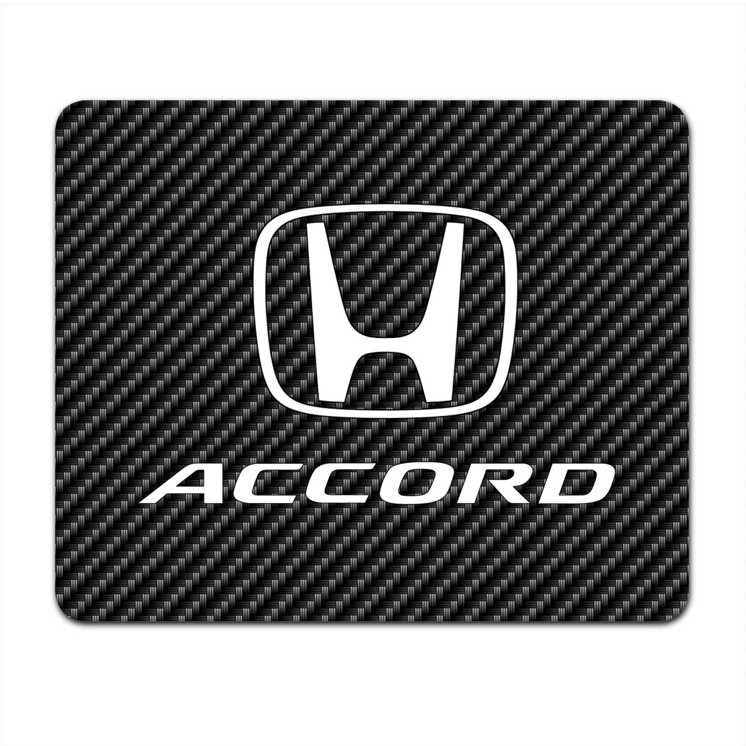 Honda Accord Black Carbon Fiber Texture Graphic PC Mouse Pad