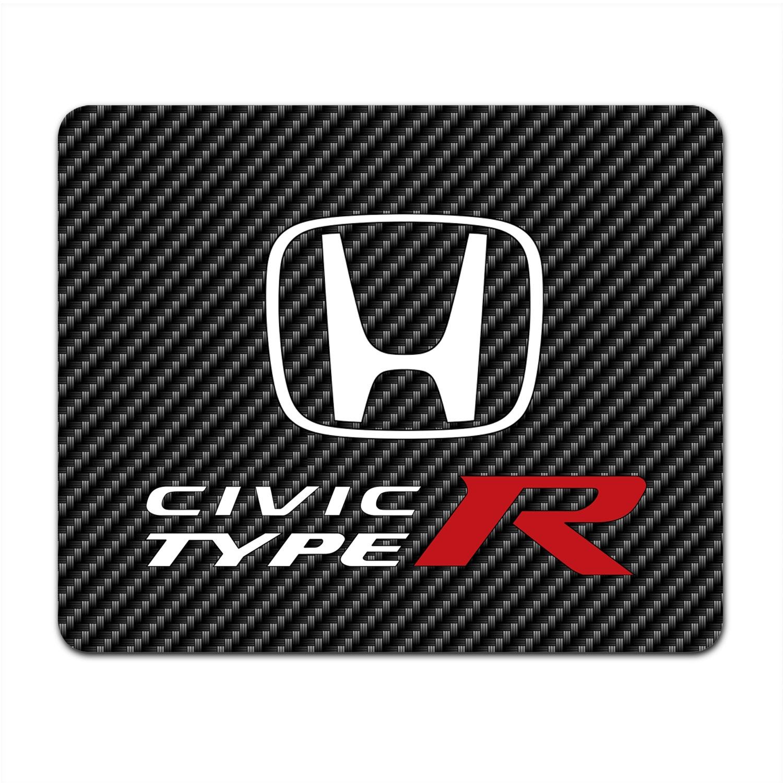 Honda Civic Type R Black Carbon Fiber Texture Graphic Pc Mouse Pad