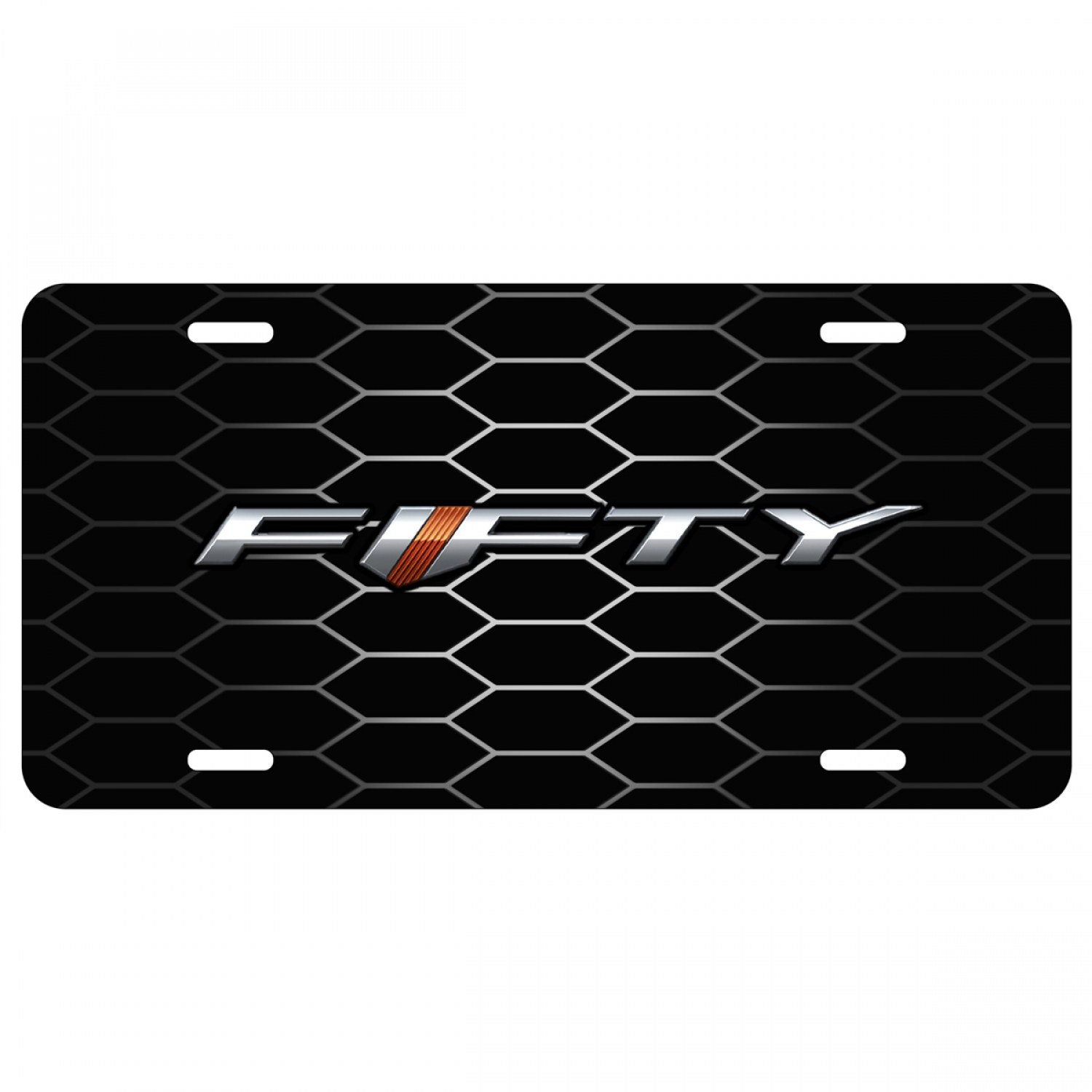 Chevrolet Camaro 50th Anniversary on Grill Graphic Aluminum License Plate
