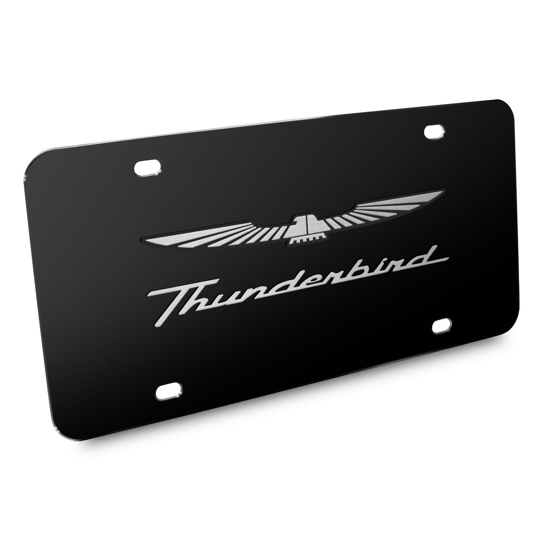 Ford Thunderbird 3D Black Stainless Steel License Plate