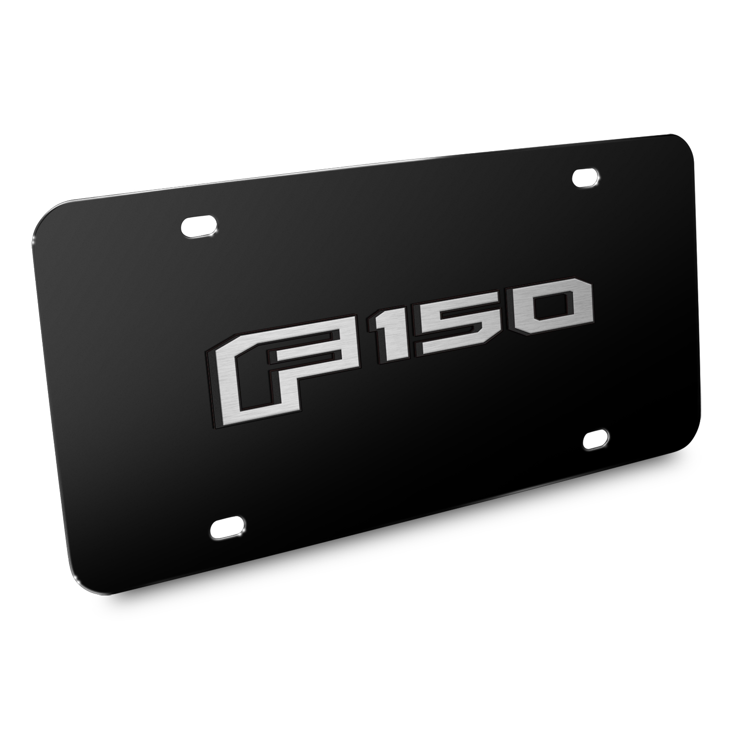 Ford F150 2015 up 3D Black Stainless Steel License Plate