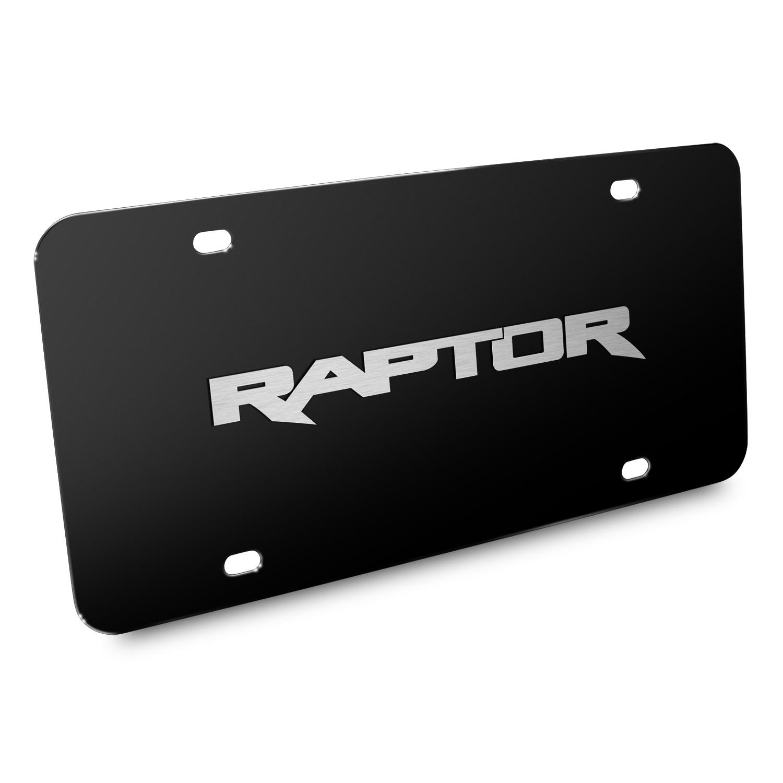 Ford 150 Raptor 3D Black Stainless Steel License Plate