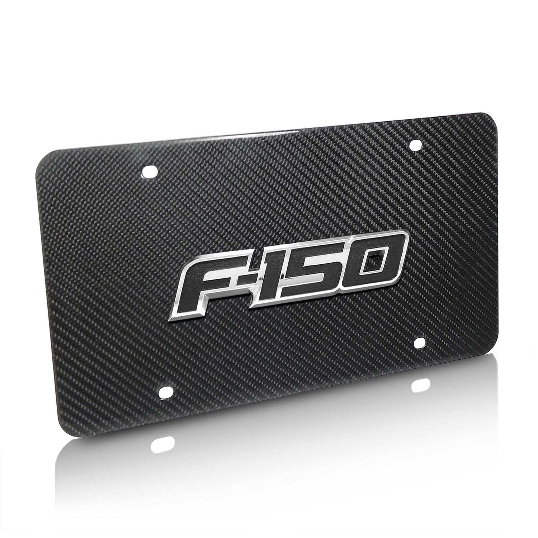 Ford F-150 2009-2014 3D Logo Real Black Carbon Fiber License Plate