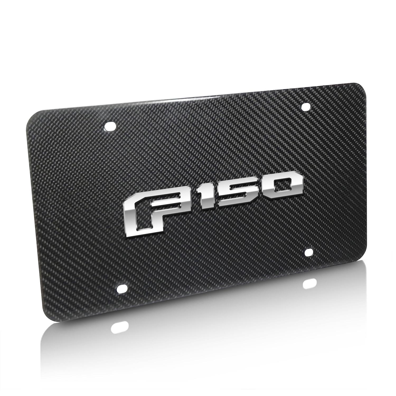 Ford F150 2015-2018 3D Logo Real Black Carbon Fiber License Plate