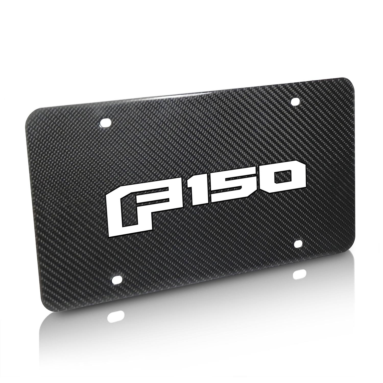 Ford F150 2015-2018 UV Graphic Real Black Carbon Fiber License Plate