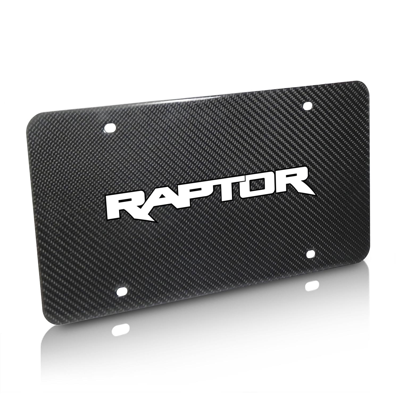 Ford F150 Raptor 2017-2018 UV Graphic Real Black Carbon Fiber License Plate