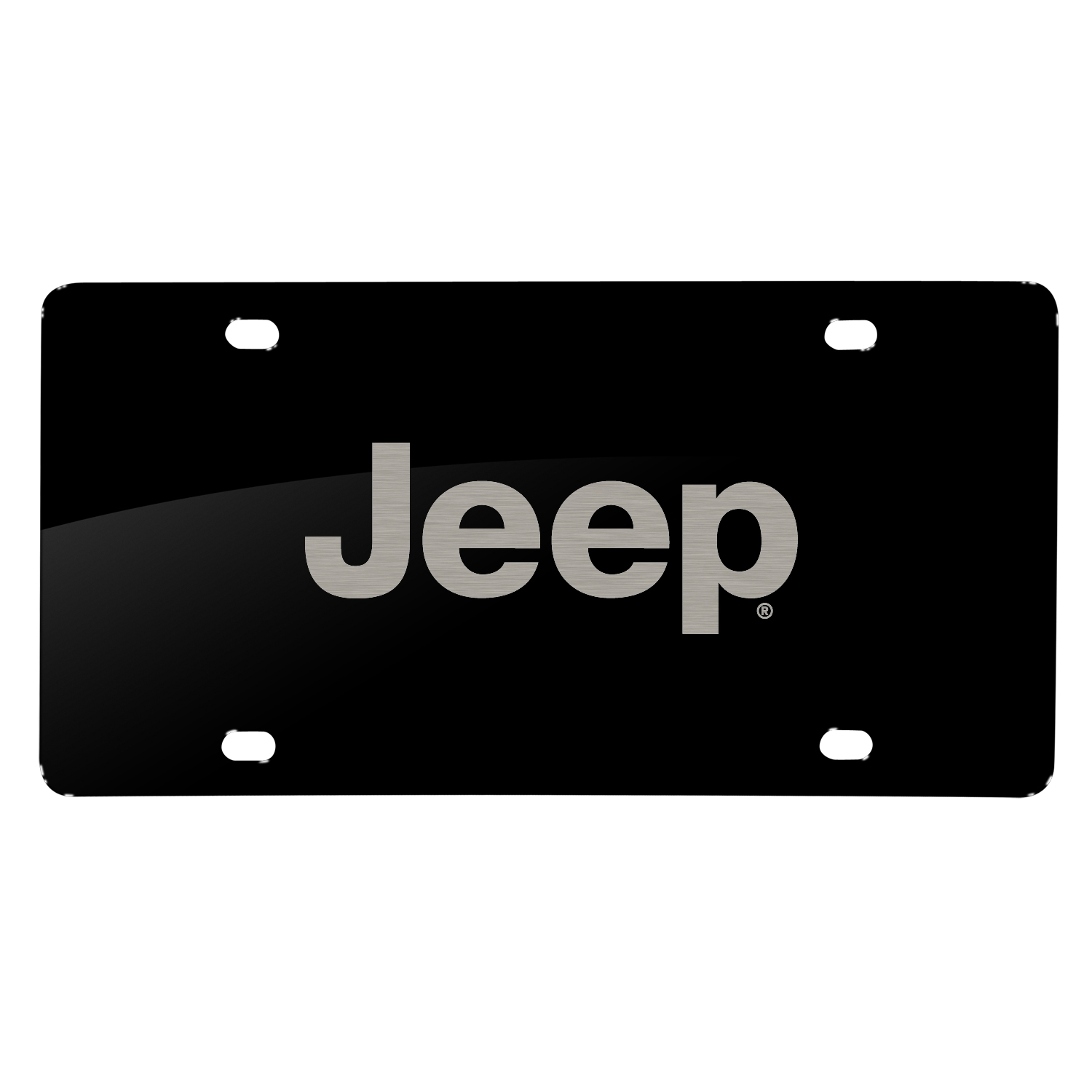 Jeep Laser Mark Black Acrylic License Plate