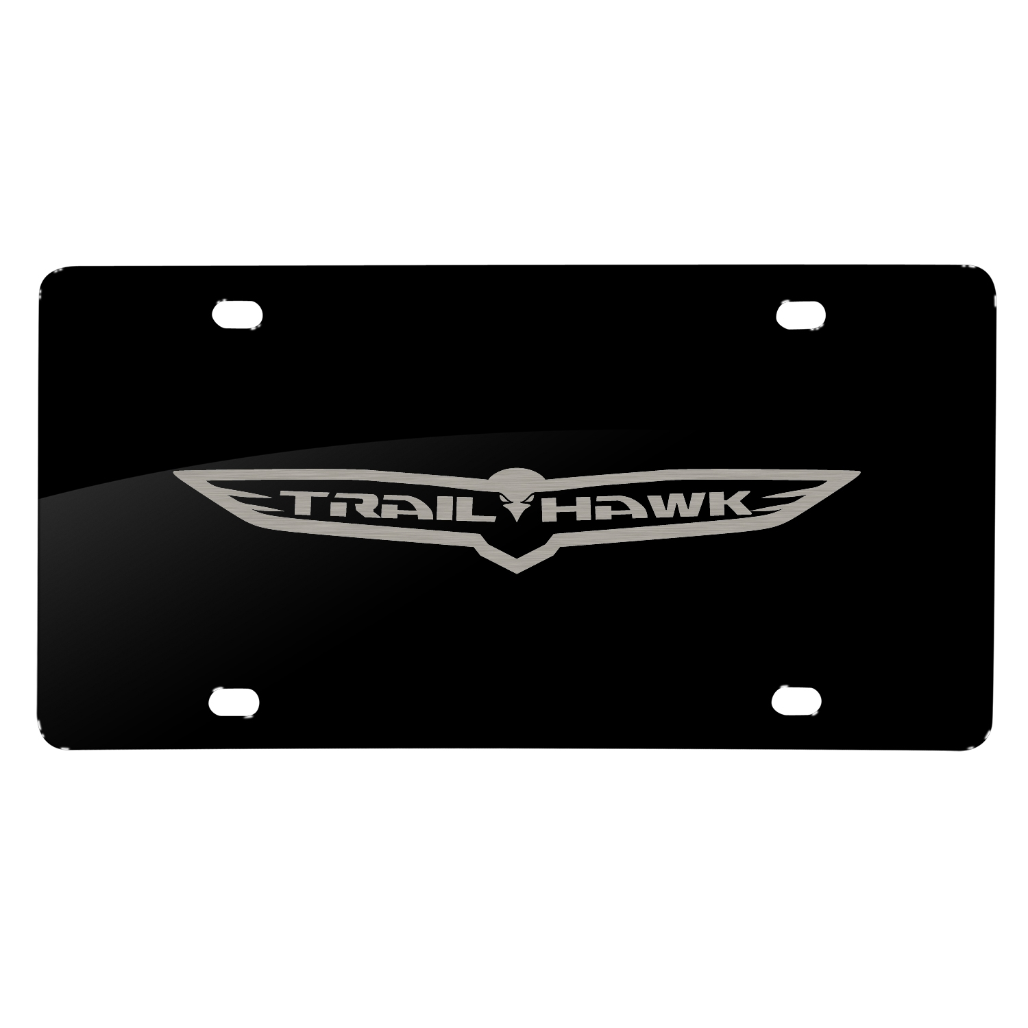 Jeep Traikhawk Laser Mark Black Acrylic License Plate