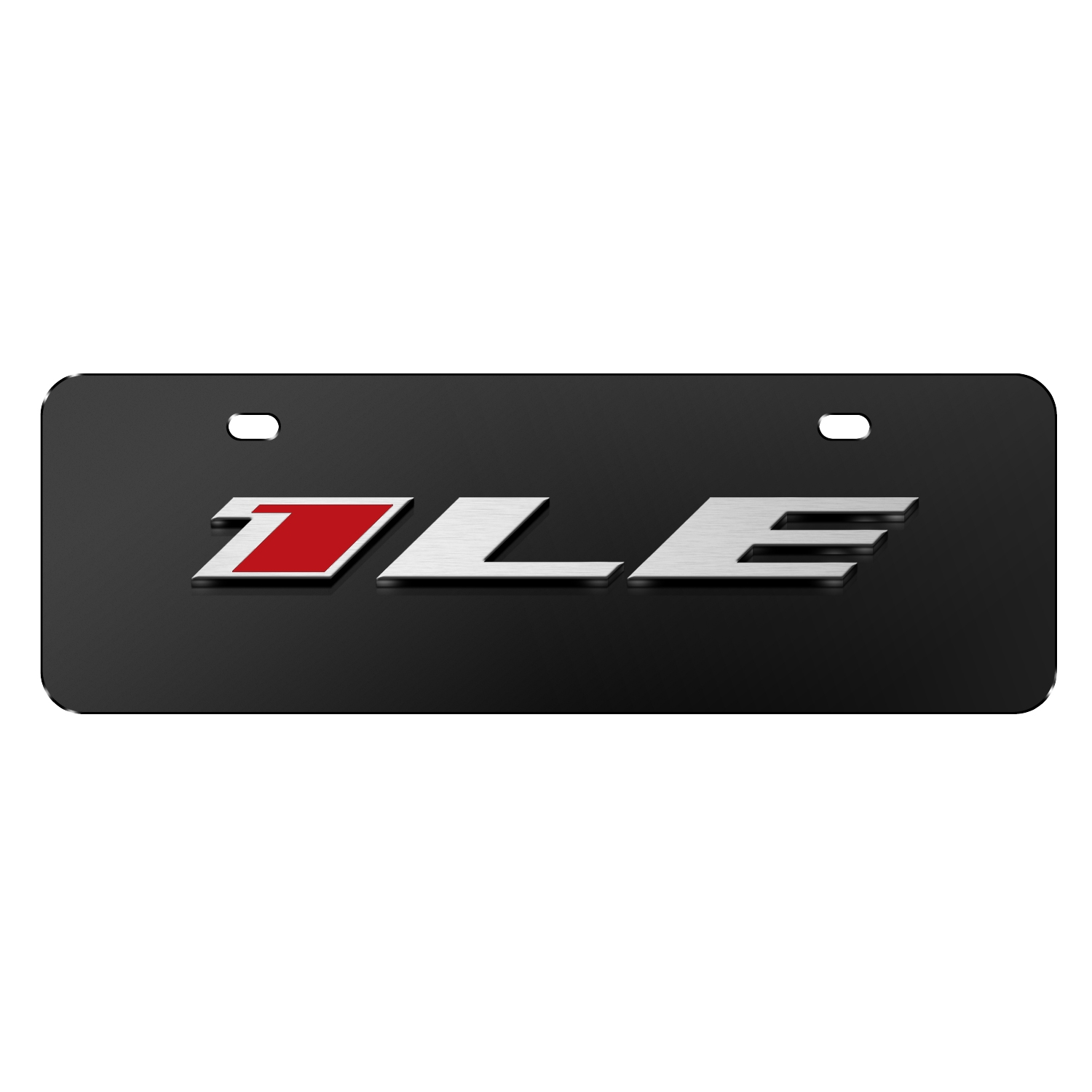 "Chevrolet 2016 Camaro 1LE 3D Logo Black 12""x4"" Half-Size Stainless Steel License Plate"