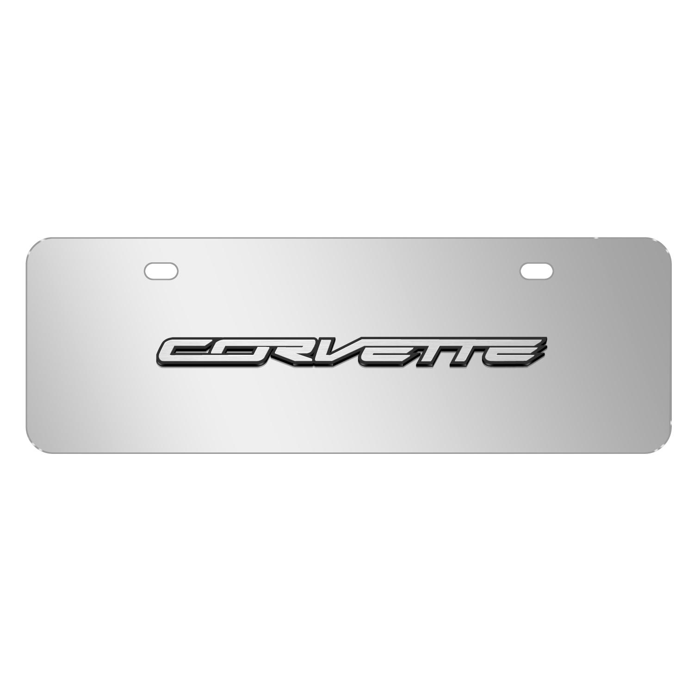 "Chevrolet 2014 Corvette C7 3D Nameplate Mirror Chrome 12""x4"" Half-Size Stainless Steel License Plate"